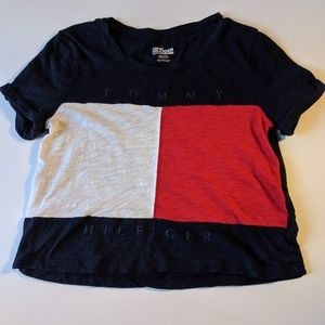 Tommy Hilfiger Crop Top Short Sleeve Colorblock